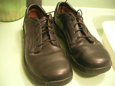 Mens Red Wing Black Leather Steel Toe Work Shoes Size 14 B Euro 48 Dissipating