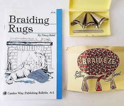 Braiding Post Braid Eze Metal Fabric Folder Cones Rug Lacer & Book Braiding Rugs
