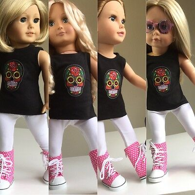 """Fit American Girl, Our Generation Gotz Journey 18"""" Doll Clothes And Boots"""