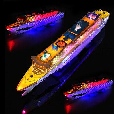 Light Music Ocean Liner Ship Model Flashing Sound Electric Cruises Boat Toys