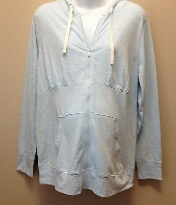 Old Navy  XS Hooded Jacket Maternity Zip Blue Nwt
