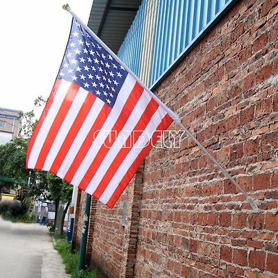 Aluminium Wall Mounted Flag Pole for house garage or business -UK