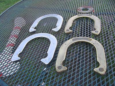 4 Eddie Bauer  horseshoes game heavy metal horse shoes set pitching game
