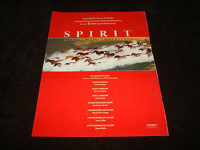 SPIRIT STALLION OF THE CIMARRON Oscar ad horse stampede, Best Animated Feature
