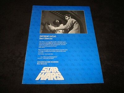 STAR WARS 1977 Oscar ad Carrie Fisher as Princess Leia directed by George Lucas