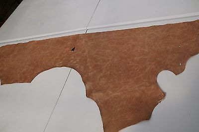 Two tone Brown Cowhide piece/off-cut  130 x 36cm  Semi aniline Cow hide leather