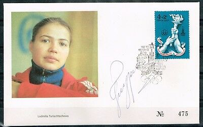 USSR.Russia.1980 Moscow Olympic Games.Cover.Signature.4 Times Olympics Champion.