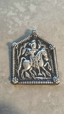 Bhumiya - Old antique tribal silver necklace amulet pendant Hindu 6.7 Grams