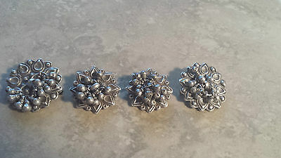 4 Vintage Handmade Tribal Hindu necklace charms 47.4 grams of silver 90-92.5%