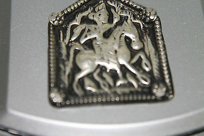 Bhumiya - Old Antique Tribal Silver Necklace Amulet Pendant Hindu God 6.9 Grams