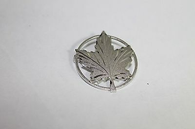 Canadian Maple Leaf Sterling Silver .925 Brooch (a)