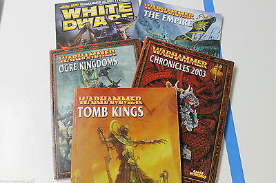 Collection of Warhammer Books Orge Kingdoms Tomb Kings The Empire White Dwarf!!
