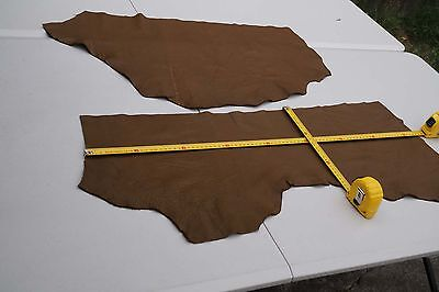 Brown Elmo upholstery cowhide pieces/off-cuts Grainy 1-1.2 mm Cow hide leather