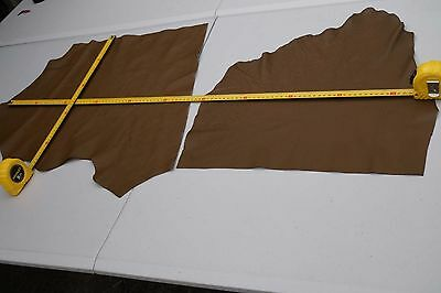 Brown Elmo upholstery cowhide pieces/off-cuts Grainy Soft Cow leather