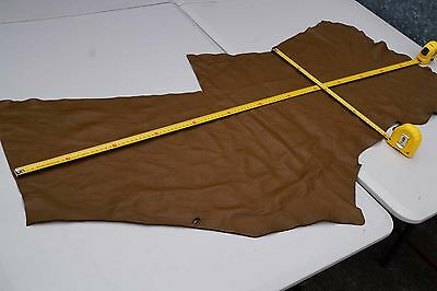 Brown Elmo upholstery cowhide piece/off-cut 120 x 35cm Grainy Cow leather