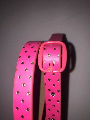 Toddler Girl ADORABLE Belt Small Pink With Polkadots 2T 5T