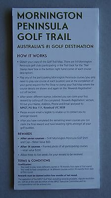 Mornington Peninsula Official Golf Touring Map And Trail Advert Brochure