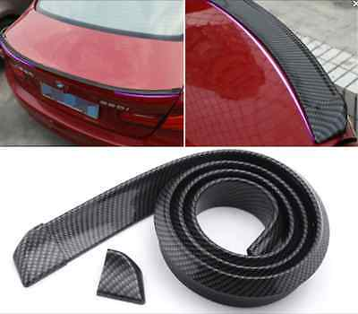 Universal Flexible Carbon Ducktail Roof Spoiler Trunk Lid Rear Wing Front Lip