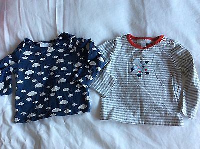 2 Gorgeous Little White Company tops age 6-9 months