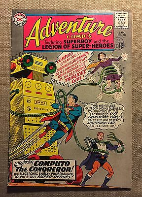Adventure Comics #340 DC. Superboy, Legion. First Computo. Classic Cover. VG.