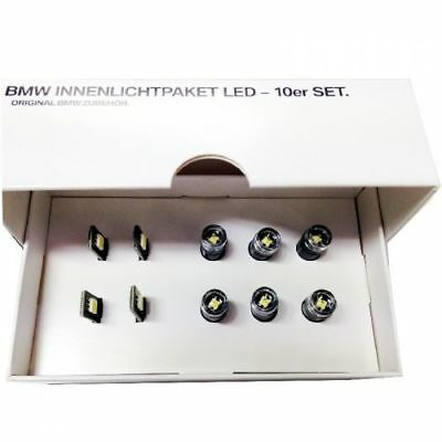 BMW LED Innenlichtpaket groß 10er Set Original interior light Module Tür Fußraum