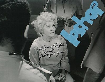 Rare autograph DONNA DOUGLAS signed TWILIGHT ZONE photo The Eye of The Beholder