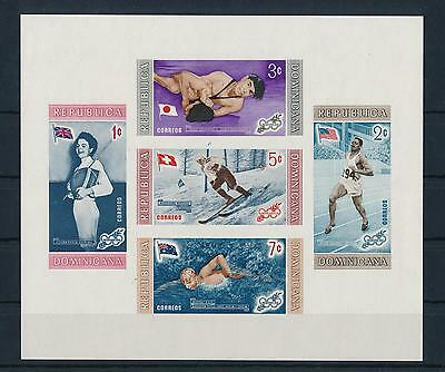 [36946] Dominican Rep. 1958 Olympic winter games Imperf. Souvenir Sheet  MNH