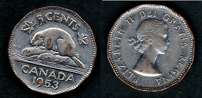 Canada   5 Cents 1953