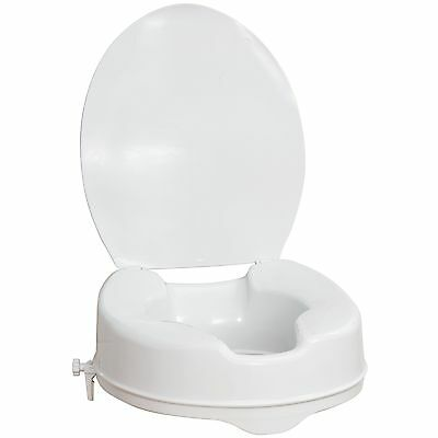 AquaSense Raised Toilet Seat with Lid  White 4-Inches