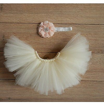 Fashion Newborn Baby Girl Outfits Photography Props Tutu Dress Flower Headdress