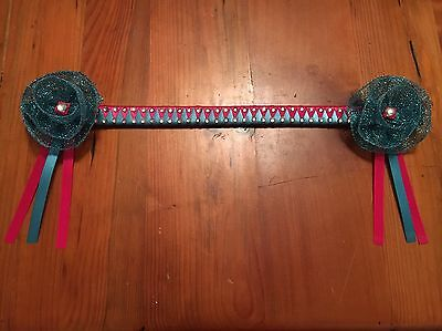 Full Size Pink And Blue Browband