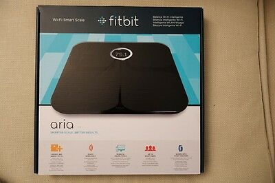 FitBit Aria Wifi Smart Weighing Scale Body Analyser in black