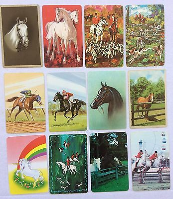 Mixed Lot of 12 X Vintage Swap / Playing Cards - Horses