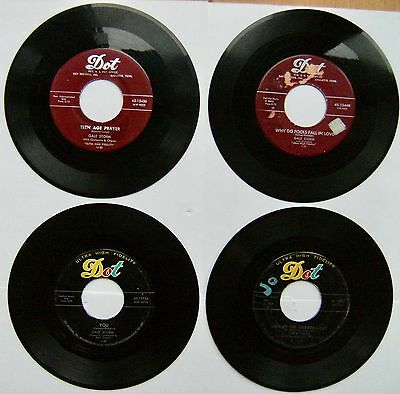 """Four GALE STORM 7"""" 1950's singles on the US Dot label"""