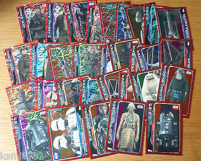 Topps Star Wars Rogue One Holo Foil Cards 161-192