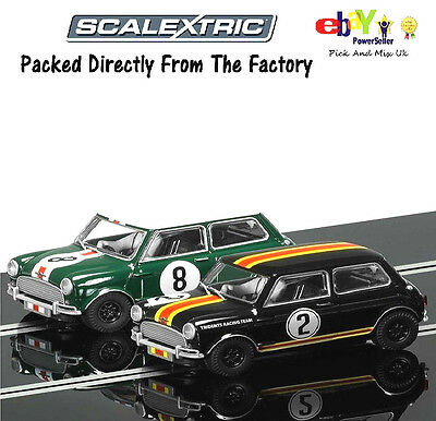 NEW Scalextric Slot Cars Legends Twin Pack Mini Cooper Limited Edition C3586A