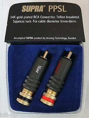 Supra Cables PPSL Cinch Stecker RCA Connector  Teflon Isoliert