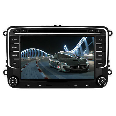 VW Caddy Golf Jetta Passat Headunit Car Radio Stereo DVD Player GPS Bluetooth UK
