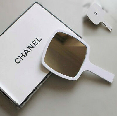 Sale! New In Box Chanel Luxury White Limited Edition Handheld Mirror