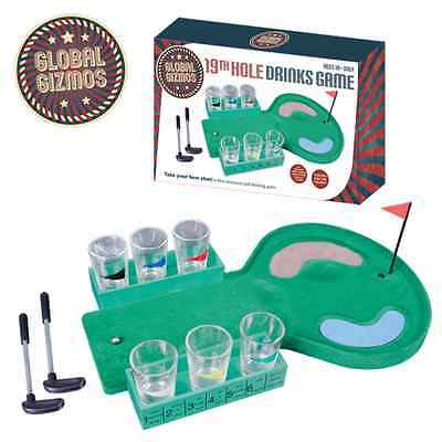 The 19th Hole Golf Adult Dinner Party Drinking Shots Fun Game Gift Set & GIFT