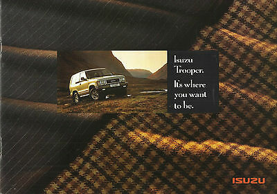 ISUZU TROOPER SWB LWB 3.2V6 3.1TD STD DUTY CITATION 1992/93 UK market brochure