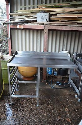 Catering stainless steel table with shelves