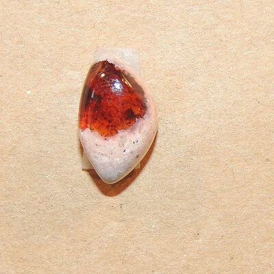 Mexican Fire Opal 15x9mm with 7mm dome Cabochon (11726)