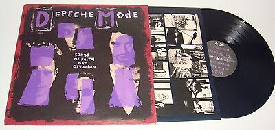 LP - DEPECHE MODE - SONGS OF FAITH AND DEVOTION - SPAIN 1993 -With PROMO Sheet