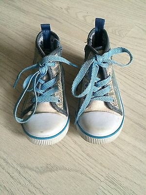 Girls High Top Trainer Boots Size 6 Infant