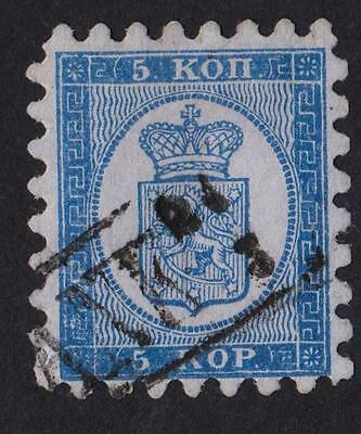 FINLAND  N °: 3A  Serration TYPE I  Stamp with obliteration CATALOGUE : 225 €