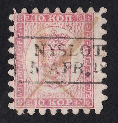 FINLAND  N °: 4 a Serration TYPE II  Stamp with obliteration CATALOGUE :200  €