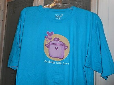 New! Cooking with Love T Shirt Better Life Brand Apparel Womens sz. 3X