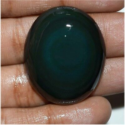 54.4 Ct NATURAL FINEST BLACK RAINBOW OBSIDIAN OVAL CABOCHON LOOSE GEMSTONE
