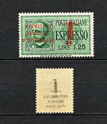 Alab 087  Italy 1944  Mlh Error Overprint